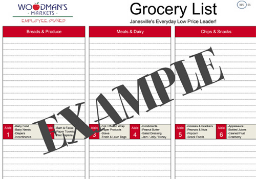 Woodman'S Market | Shopping Lists